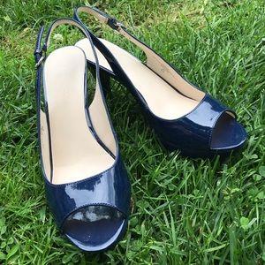 Nine West navy heels